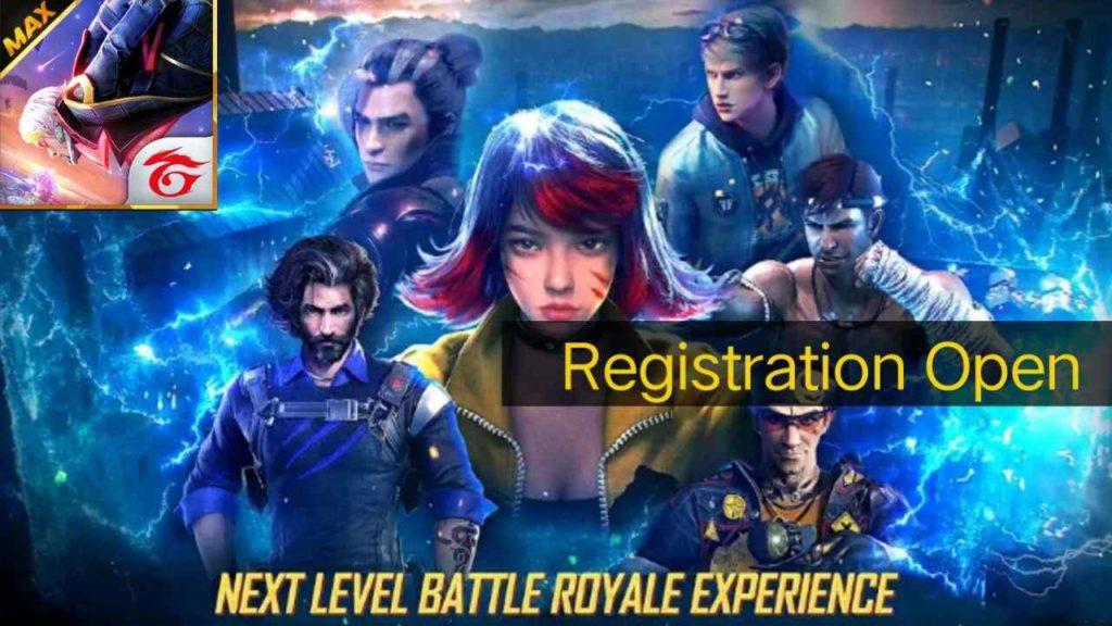 Free fire max Pre registration
